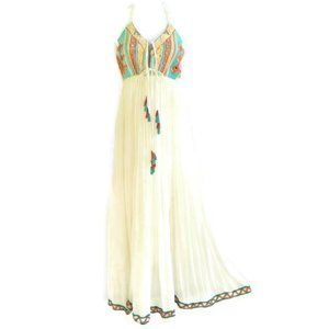 Raga Maxi Dress Cotton Gauze Rope Mirror Detail S